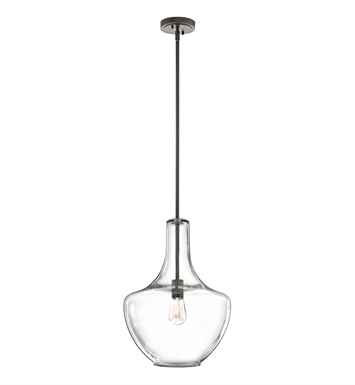Kichler 42046OZCS Everly Collection Pendant 1 Light in Olde Bronze