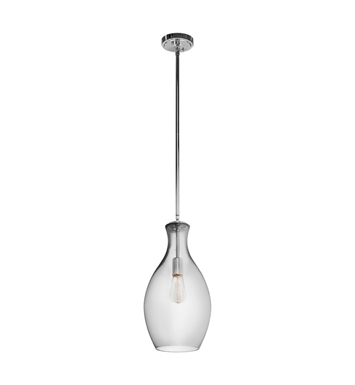 Kichler 42047CHSMK Everly Collection Pendant 1 Light in Chrome