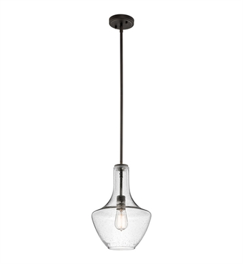 Kichler 42141OZCS Everly Collection Pendant 1 Light in Olde Bronze