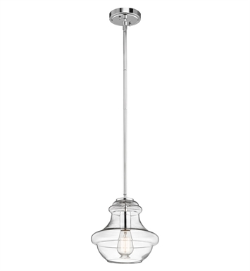 Kichler 42167CHCLR Everly Collection Pendant 1 Light in Chrome