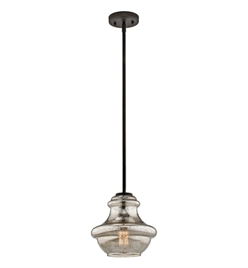 Kichler 42167OZMER Everly Collection Pendant 1 Light in Olde Bronze