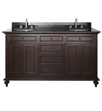 "Avanity MERLOT-V60-ES Merlot 60"" Espresso Contemporary Double Sink Bathroom Vanity"