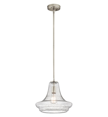 Kichler 42328NICS Everly Collection Pendant 1 Light in Brushed Nickel
