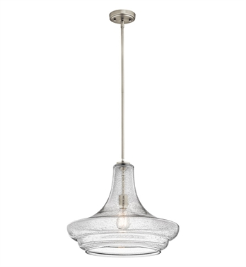 Kichler 42329NICS Everly Collection Pendant 1 Light in Brushed Nickel