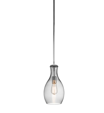 Kichler 42456CHSMK Everly Collection Pendant 1 Light in Chrome