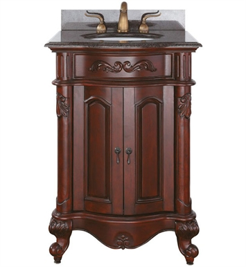 "Avanity PROVENCE-V24-AC Provence 24"" Antique Bathroom Vanity in Antique Cherry FInish"
