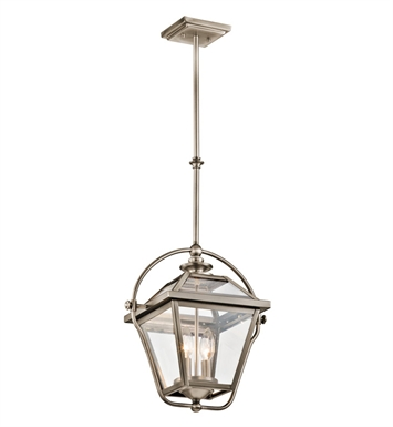 Kichler 42908AP Ryegate Collection Pendant 2 Light in Antique Pewter