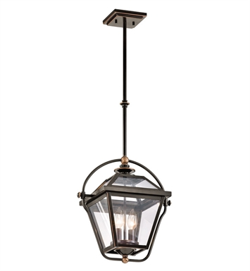 Kichler 42908OZ Ryegate Collection Pendant 2 Light in Olde Bronze