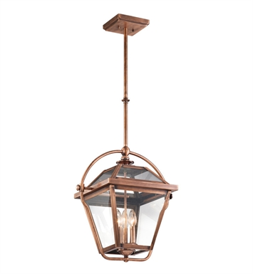 Kichler 42909ACO Ryegate Collection Pendant 3 Light in Antique Copper