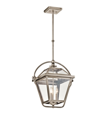Kichler 42909AP Ryegate Collection Pendant 3 Light in Antique Pewter