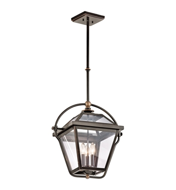 Kichler 42909OZ Ryegate Collection Pendant 3 Light in Olde Bronze