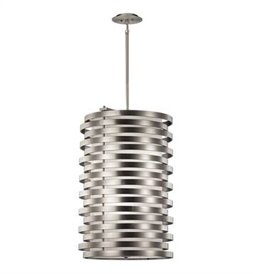 Kichler 43306NI Roswell Collection Large Foyer Pendant 6 Light in Brushed Nickel