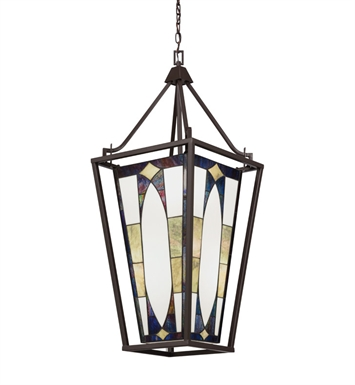 Kichler 65421 Denman Collection Large Foyer Pendant 4 Light in Olde Bronze