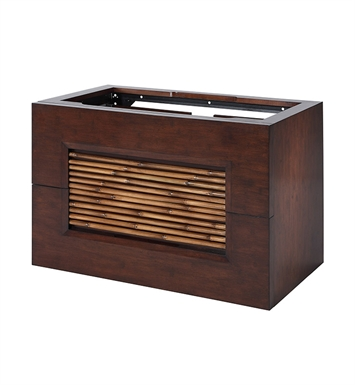 "Ryvyr V-BAMBU-36DB BAMBU 36"" Modern Bathroom Vanity in Dark Bamboo Finish"