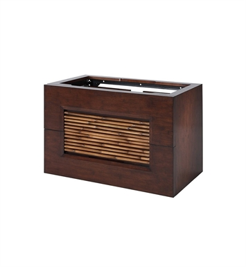 "Ryvyr V-BAMBU-30DB BAMBU 30"" Modern Bathroom Vanity in Dark Bamboo Finish"