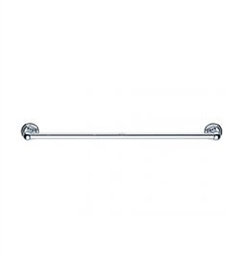 "Keuco 02101010600 Astor Towel Rail in Chrome With Dimensions: Size: W 23 5/8"" x H 2 3/8"" x D 1"""