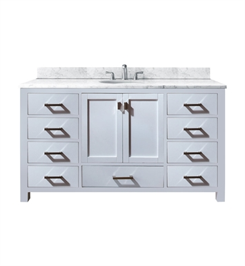 "Avanity MODERO-V60-WT-A Modero 60"" Single White Bathroom Vanity"