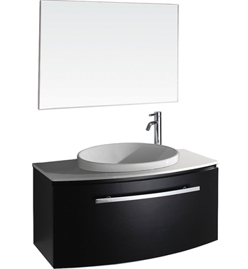 Allura Modern Bathroom Vanity Set by Wyndham Collection in Espresso with Sink
