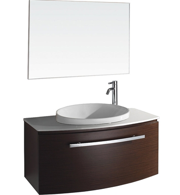 Allura Modern Bathroom Vanity Set by Wyndham Collection in Ironwood with Sink