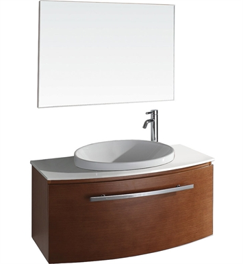Allura Modern Bathroom Vanity Set by Wyndham Collection in Pearwood with Sink