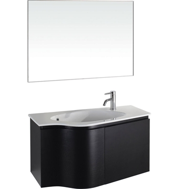 Aldo Modern Bathroom Vanity Set by Wyndham Collection in Espresso with Sink