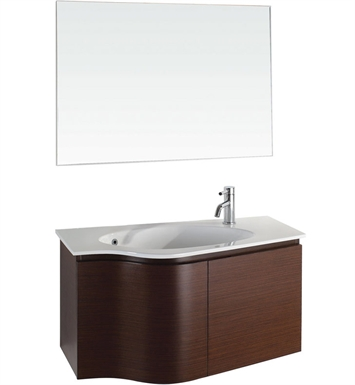 Aldo Modern Bathroom Vanity Set by Wyndham Collection in Ironwood with Sink