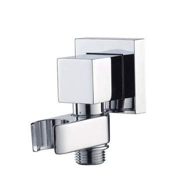 Jaclo 8716-PB Cubix Water Supply Elbow with Handshower Holder With Finish: Polished Brass