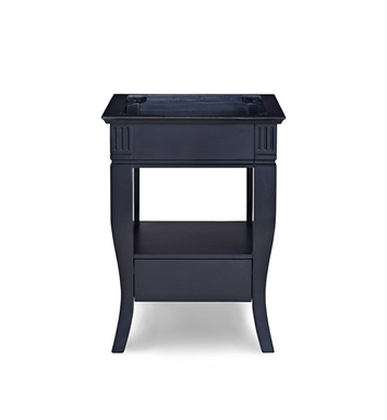 "Ryvyr V-COLORADO-24BK COLORADO 24"" Modern Bathroom Vanity in Black Finish"