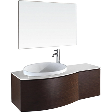 Athena Modern Bathroom Vanity Set by Wyndham Collection in Ironwood with Sink