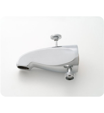 Jaclo 2008-SC Decorative Tub Spout with Diverter & Handshower Outlet With Finish: Satin Chrome