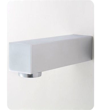 Jaclo 2713-PN Cubix Decorative Tub Spout With Finish: Polished Nickel