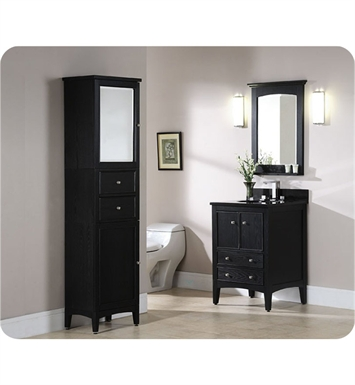 "Ryvyr V-KENT-24BE KENT 24"" Bathroom Vanity in Brown Ebony Finish"