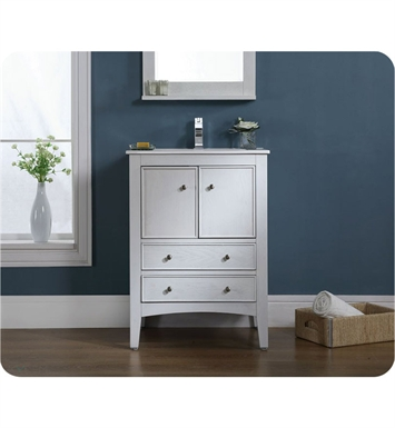 "Ryvyr V-KENT-24WW KENT 24"" Bathroom Vanity in Whitewash Finish"