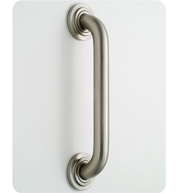 Jaclo 2612-PEW Deluxe Grab Bar with Contemporary Round Flange With Finish: Pewter
