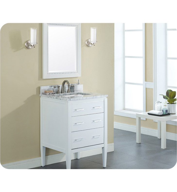 ryvyr v manhattan 24wt manhattan 24 modern bathroom vanity in white