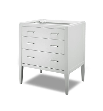 "Ryvyr V-MANHATTAN-30WT MANHATTAN 30"" Modern Bathroom Vanity in White Finish"