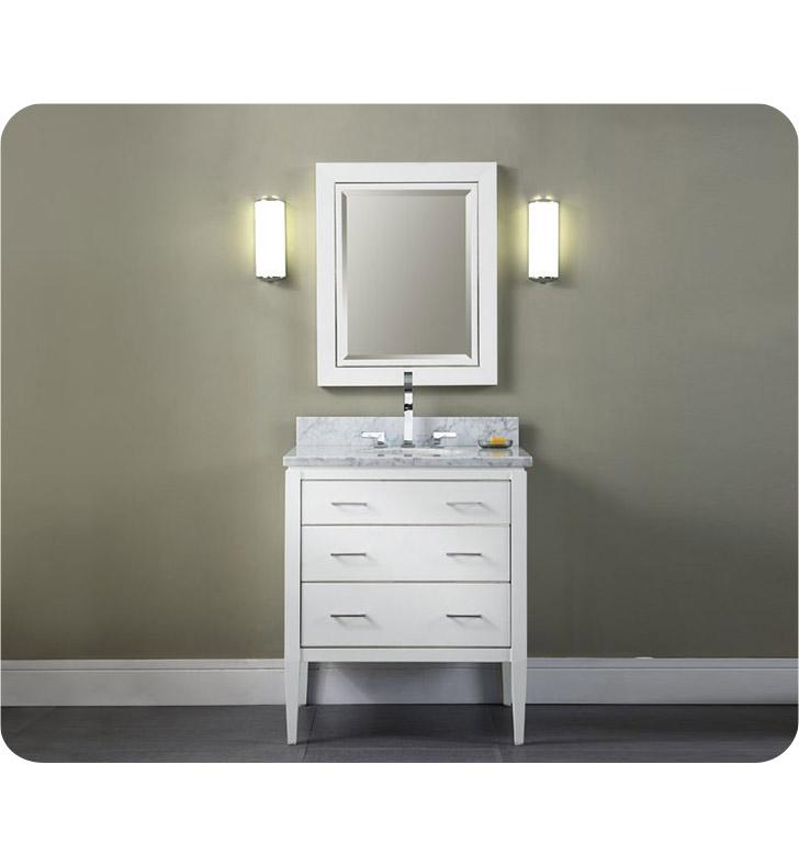 ryvyr v manhattan 30wt manhattan 30 modern bathroom vanity in white