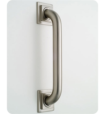 Jaclo 2724-PEW Deluxe Grab Bar with Contemporary Square Flange With Finish: Pewter