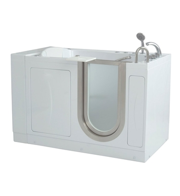 Ella 93118 Royal Dual Air and Hydro Massage Walk In Tub With Drain Position: Right Side Drain/Door