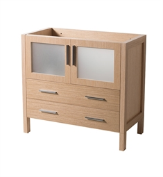 "Fresca FCB6236LO Torino 36"" Light Oak Modern Bathroom Cabinet"