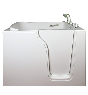 Ella 355503L Bariatric 30.5 inch Wide Seat Walk In Bathtub With Jet Mode: Hydro Massage And Drain Position: Left Side Door/Drain