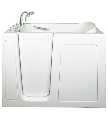 Ella 305211L Low 3.5 inch Threshold Walk In Bathtub With Jet Mode: Soaking (No Jets) And Drain Position: Left Side Door/Drain