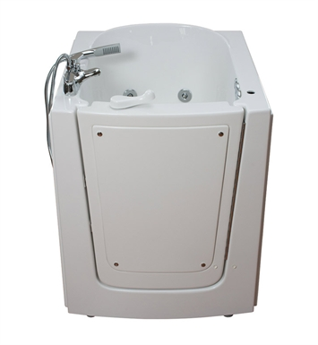 "Ella 313704L Front Entry 33 x 38"" Walk In Bathtub With Jet Mode: Dual Massage And Drain Position: Left Side Door/Drain"