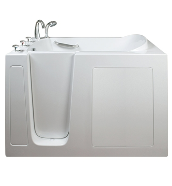 Ella 265302R Narrow 26 inch Walk In Bathtub With Jet Mode: Air Massage And Drain Position: Right Side Door/Drain
