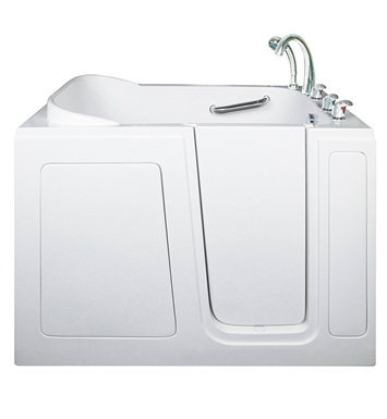 "Ella 284804L Short 28 x 48"" Walk In Bathtub With Jet Mode: Dual Massage And Drain Position: Left Side Door/Drain"