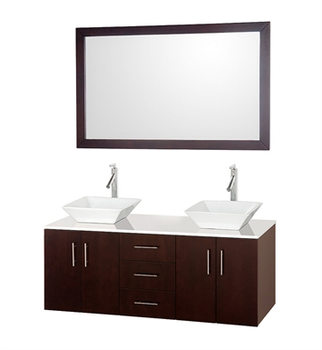 "[DISABLED]Arrano 55"" Modern Bathroom Vanity Set by Wyndham Collection in Espresso"