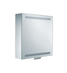 "Keuco Edition 300 30201 25"" Lighted Mirrored Cabinet with Silver Anodized Body Finish"