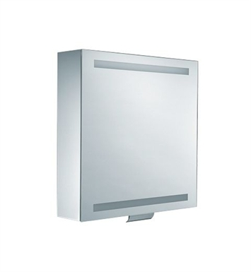 "Keuco 30201171251 Edition 300 25"" Lighted Mirrored Cabinet with Silver Anodized Body Finish"