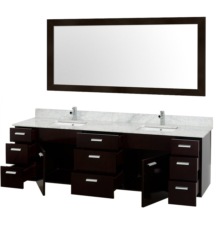 Wcs400078es Disabled Encore 78 Modern Double Sink Bathroom Vanity Set By Wyndham Collection