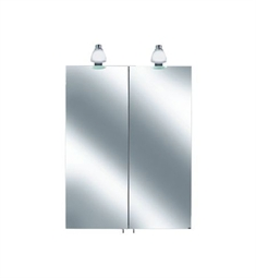 Keuco Royal 30 05601 Lighted Mirror Cabinet with Silver Anodized Body and Matt White Light Shades